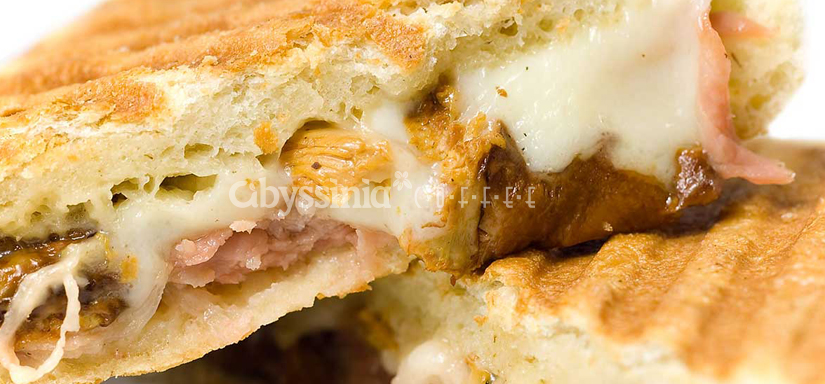 Olive and rosemary  focaccia chicken Panini